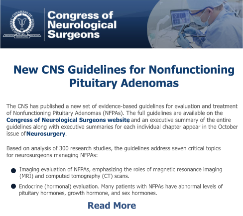 New CNS Guidlines For Nonfunctioning Pituitary Adenomas