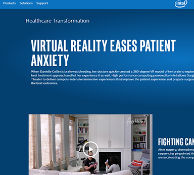 virtual reality eases patient anxiety