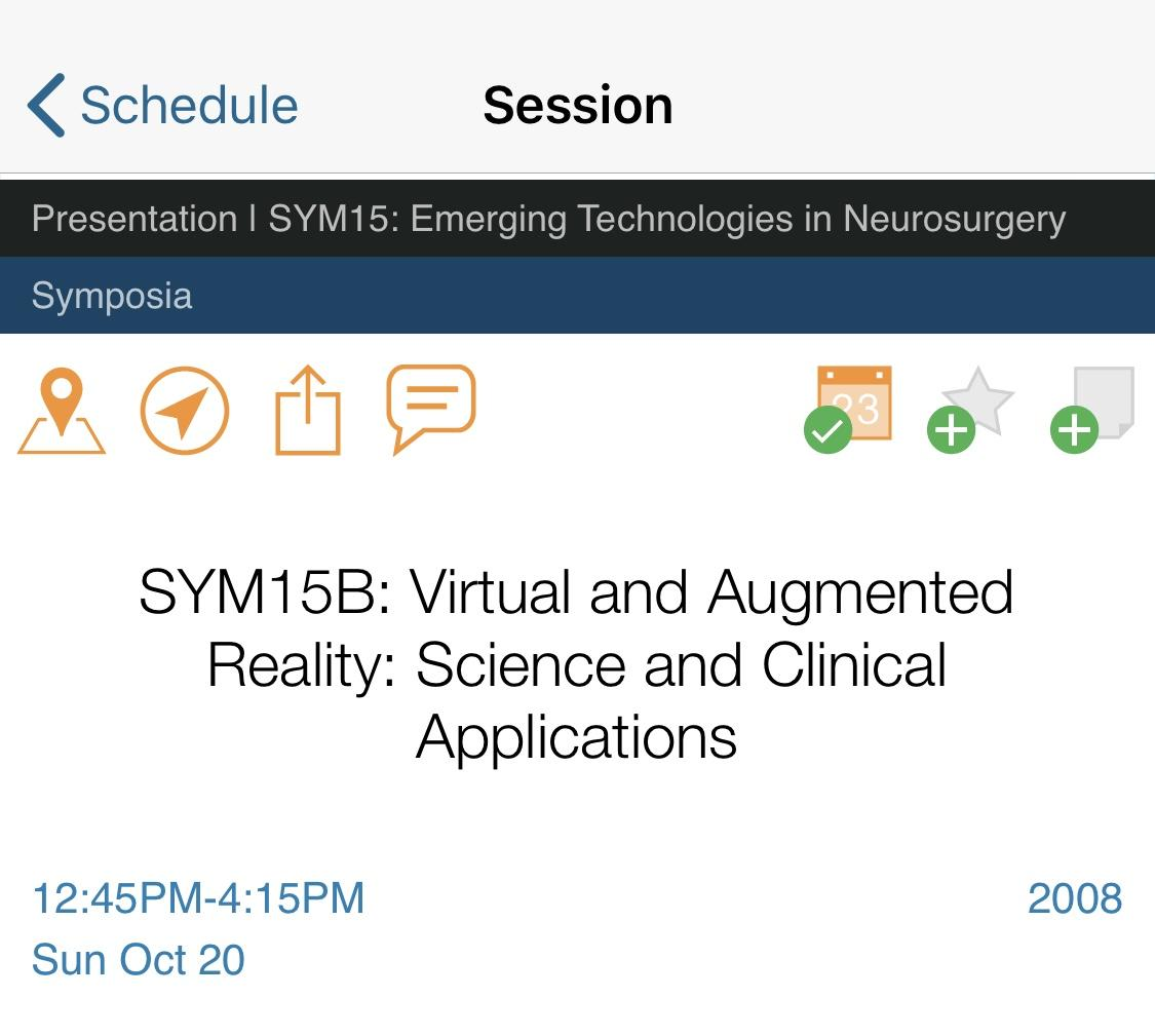 Screenshot of Presentation on Emerging Technologies in Neurosurgery